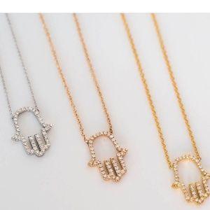 Hamsa necklace zara